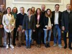 I relatori alla conferenza stampa di presentazione di questa mattina