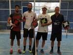 Le coppie protagoniste della finale maschile al Misano Sporting Club: da sinistra Negroni-Conti e Tonti-Scala