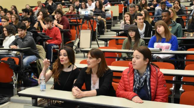 Nella foto gli studenti alla Sala Icaro
