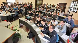 Un'aula universitaria in Romagna (foto d'archivio)