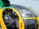 Uno degli elicotteri della Stazione navale delle Fiamme gialle di Rimini (foto archivio MIgliorini)