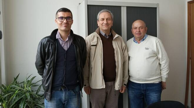 Antonio Masi ed Enea Astuto (Cia Romagna) con il candidato a sindaco di Roncofreddo Odo Rocchi
