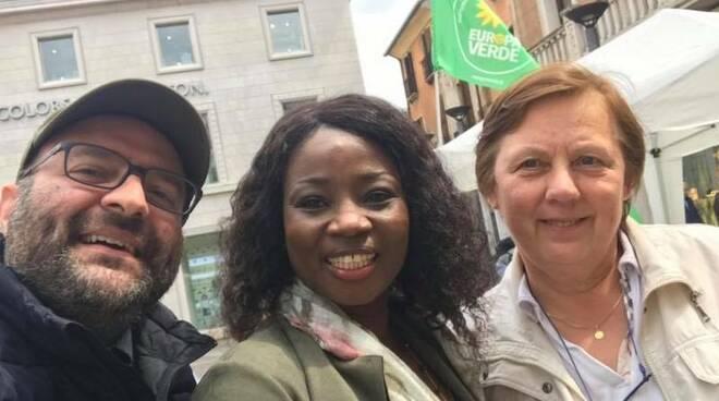 Fatou Boro Lo con Andrea Maestri al suo fianco