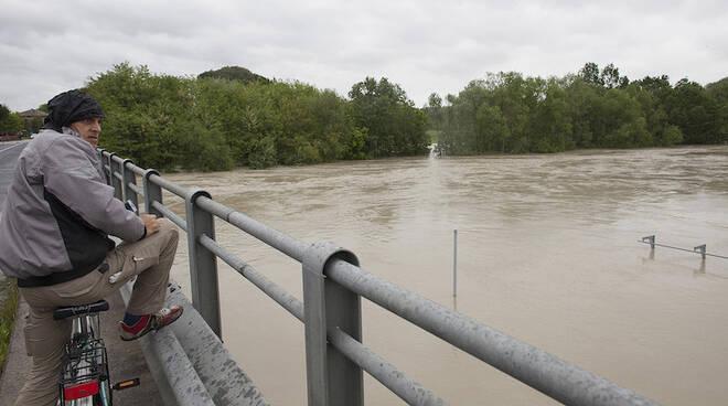 Il fiume Savio in piena nei giorni scorsi