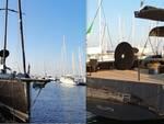 La Grand Soleil 80 attraccata a Marinara, Porto Turistico di Ravenna