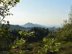La Vena del Gesso vista dal Carnè; monte Mauro e monte Tondo sullo sfondo