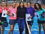 Le coppie finaliste del torneo femminile: da sx Marta Del Sal e Stefania Fabbri e Sara D'Ambrogio e Laura Bianchini