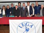 Luca Zannoni in compagnia della lista di candidati