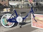 """Un'immagine dell'installazione """"Nomafia bike"""""""