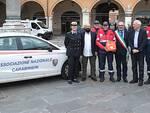 Un momento della presentazione in piazza del Popolo a Ravenna