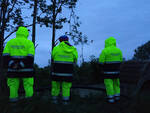 Volontari della Protezione Civile al lavoro