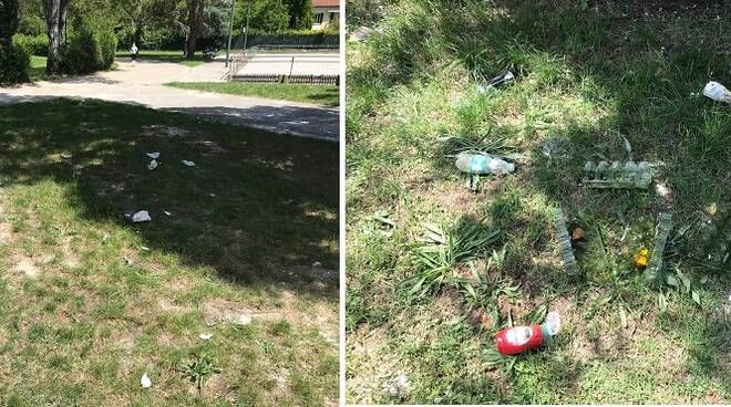 Alcune foto dei rifiuti al Fagiolo