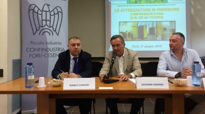 Da sx Danilo Casadei, Giovanni Giannini e Marco Riciputi