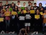 Gli alunni delle scuole medie premiati