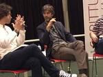 Kim Rossi Stuart con i due intervistatori Matteo Cavezzali e Stefano Bon