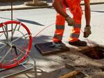 Lavori di posa della fibra ottica