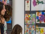 Nella foto la mostra al Liceo Volta-Ferrini di Riccione