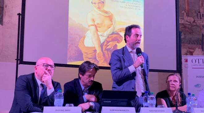 Tito Nocentini, direttore regionale Intesa Sanpaolo, all'incontro organizzato dalla Fondazione Cassa dei Risparmi di Forlì