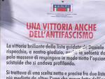 Un estratto del cartello affisso dall'Anpi