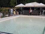 Un'immagine dell'inaugurazione alla piscina comunale di Solarolo
