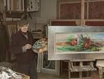 Giulio Galassi al lavoro nel suo studio
