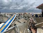 maltempo - danni in spiaggia Milano Marittima