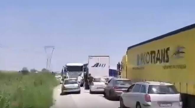 Ravenna_viaBaiona_ trafficoBloccato_10luglio2019