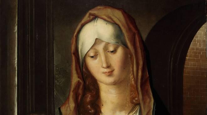 Albrecht Dürer - Madonna del Patrocinio - 1495 ca - olio su tavola - 47,8 x 36,5