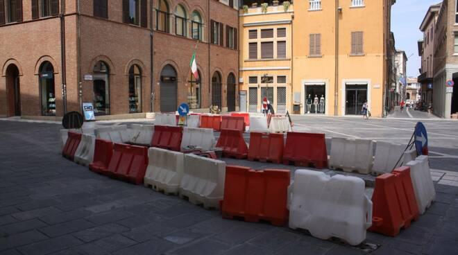 Cesena, lavori in centro storico