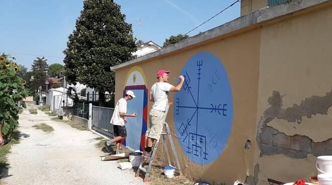 Dem al lavoro sui nuovi murales di Cotignola