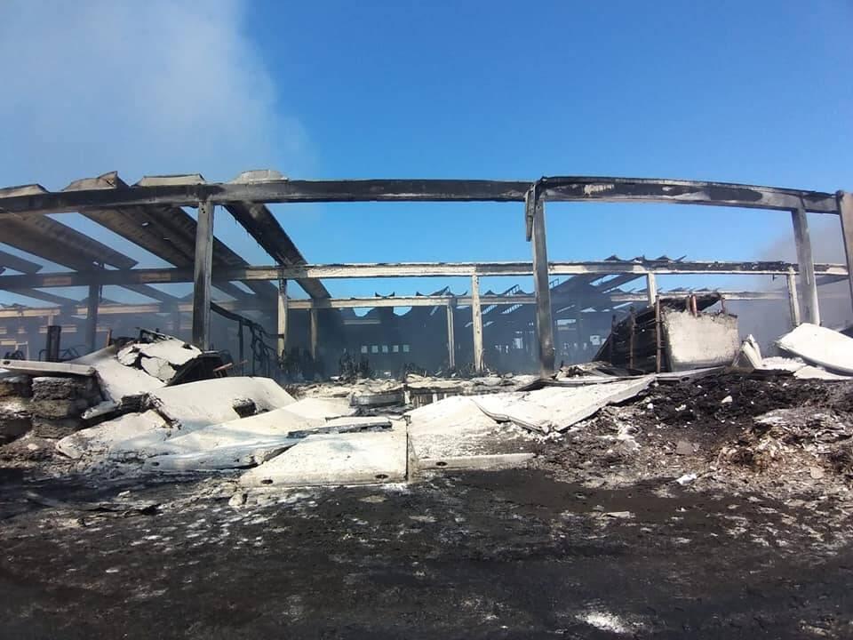 Incendio Lotras Faenza domato