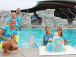 Oltremare Riccione: festa per il 5° compleanno del delfino Taras