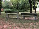 parco Battaglia di Piangipane, panchina divelta