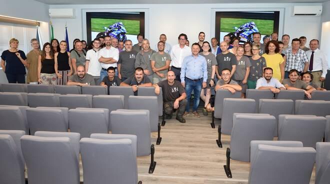 Fausto Gresini in visita alla cooperativa lughese Icel