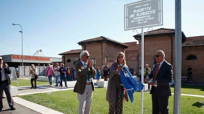 inaugurazione piazzetta plebiscito a russi