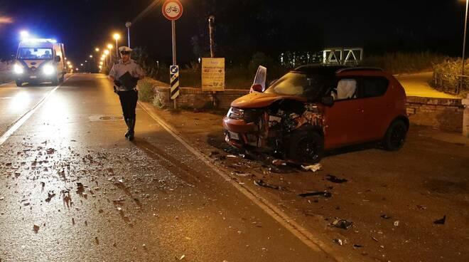 incidente stradale Ponte Nuovo