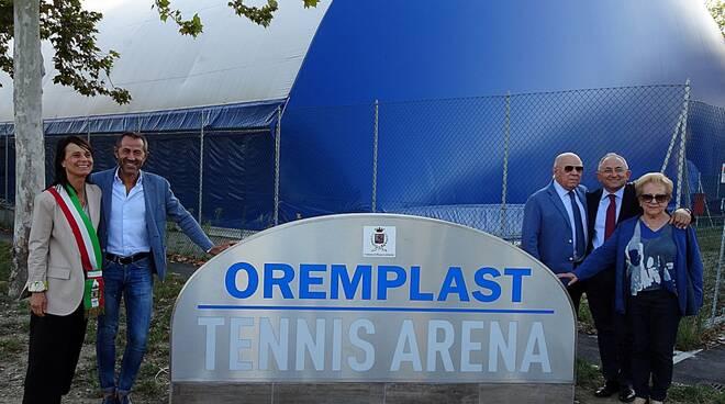 Massa Lombarda totem Oremplast Tennis Arena
