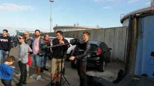 riprese video clip Renato Zero zona industriale