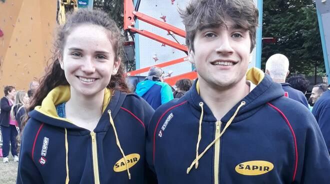 Francesca Vasi e Filippo Maresi Arrampicata sportiva