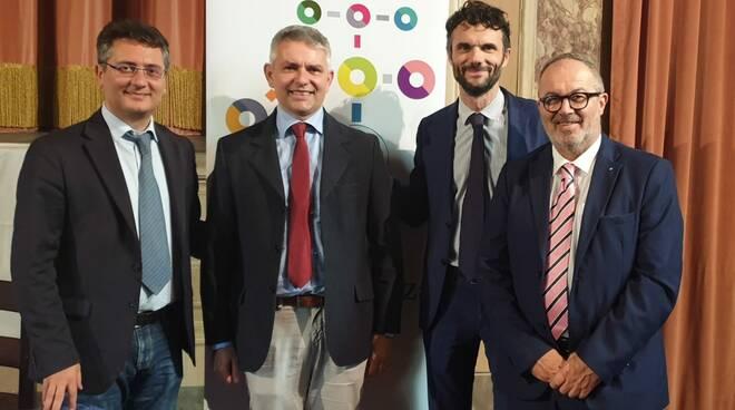 Gian Guido Nobili, Andrea Giacomini, Matteo Biffoni ed Eugenio Fusignani