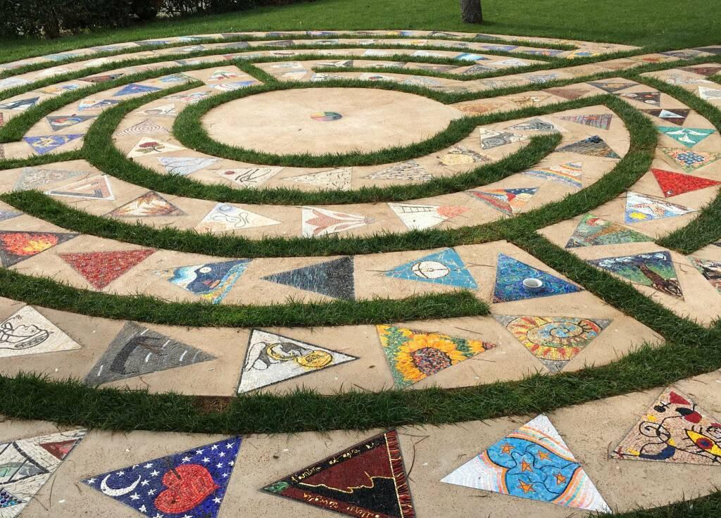 Labirinto in Mosaico di fronte al Carcere di Ravenna