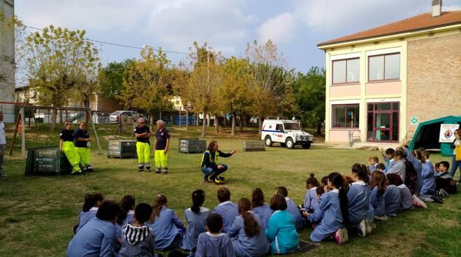 protezione civile a scuola a massa lombarda