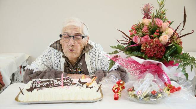 Egidia Nuvoli compie 100 anni