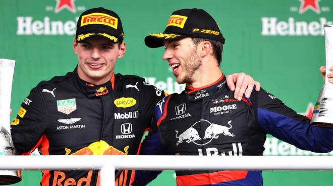 Toro Rosso - Gasly con Verstappen