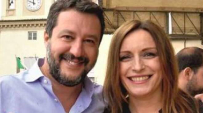 Matteo Salvini e Lucia Borgonzoni
