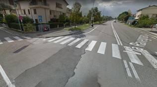 Attraversamento pericoloso sulla via Ravegnana