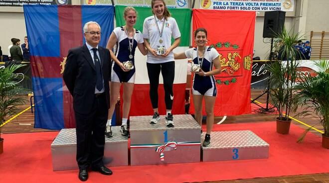 Canottieri Ravenna: Elisa Ortolani vince il titolo italiano indoor