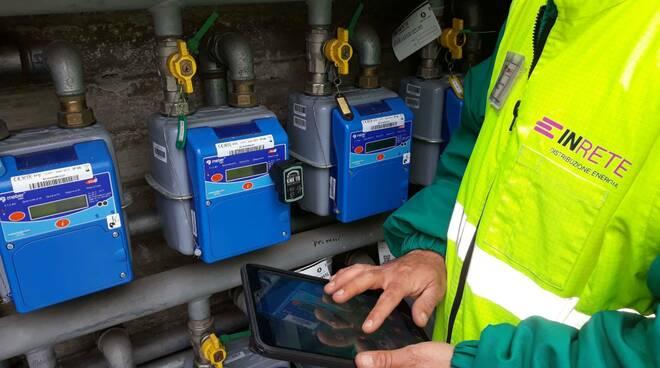 in rete . contatori gas