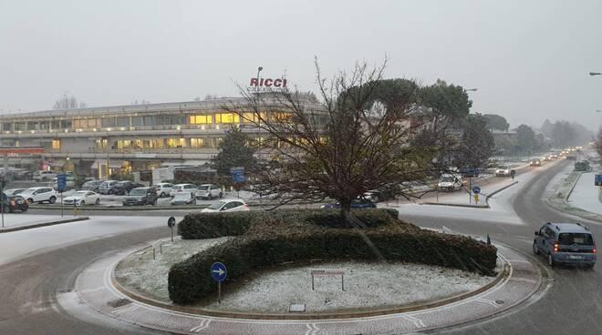 nevicata su Lugo