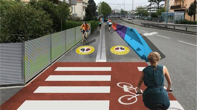 Rimini, nuova pista ciclabile per via Roma